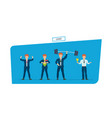 set of leader businessman is superhero in vector image