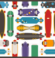 skateboard seamless pattern background vector image vector image