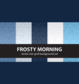 star pattern set frosty morning seamless vector image vector image