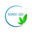 stock abstract business logo eps 10 vector image