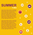 summer time poster with summer elements vector image