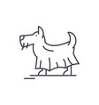 terrier line icon concept terrier linear vector image