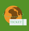 ticket around the globe vector image