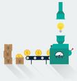 transform creative idea to money creative idea in vector image vector image