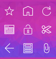 user outline icons set collection of house vector image vector image