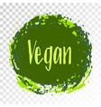 vegan diet label painted logo emblem vector image