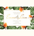 wedding event invitation rsvp card template green vector image vector image