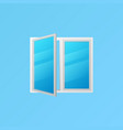 window colorful icon or element on blue vector image vector image