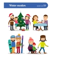 Winter vacation people vector image vector image