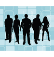 young retro people vector image vector image