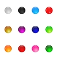 Collection Of Colorful Glossy Spheres Set 1 vector image