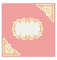 decorative corners and frame in vintage style vector image