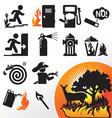 symbol fire vector image