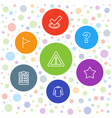 7 mark icons vector image vector image