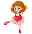 a chubby girl ballet vector image