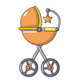 baby carriage star icon cartoon style vector image vector image