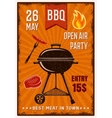 BBQ Open Air Party Vintage Poster vector image vector image
