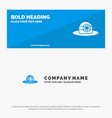 beach hat cap solid icon website banner and vector image