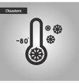 black and white style thermometer cold weather vector image vector image