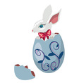 Bunny Inside a Cracked Egg vector image