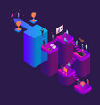 career ladder concept 3d isometric view vector image