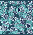 caribbean islands vintage labels patchwork vector image