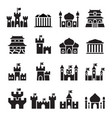 castle palace icons vector image