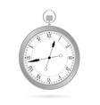 clock silver vector image