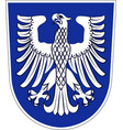 coat of arms of schweinfurt in lower franconia in vector image