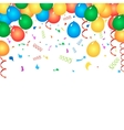 Colorful birthday balloons and confetti vector image