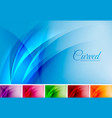 curved abstract background vector image vector image