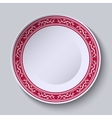 Decorative dish with an ethnic floral patterns on vector image vector image