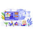design concept online education flat vector image vector image