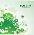 eco city vector image vector image