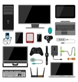 Electronic gadgets icons vector image vector image