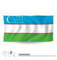 Flag of Uzbekistan vector image vector image
