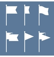 Flag Pin Flat Icon Set vector image vector image