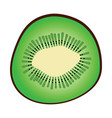 flat design icon of kiwi in ui colors vector image