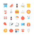 Food Colored Icons 7 vector image vector image