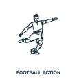 football player icon mobile apps printing and vector image