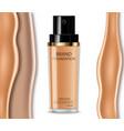 foundation cream realistic cosmetics product vector image vector image
