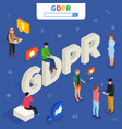 general data protection regulation - gdpr vector image vector image