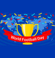 global soccer day concept banner flat style vector image