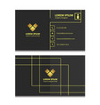 gold stripes business card template vector image vector image