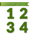 grass numbers 1 2 3 4 green numbers one two vector image vector image