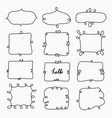 hand drawn doodle frame decorative calligraphic vector image vector image