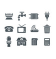 Household services utility payment bill flat icons