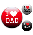 I love Dad sign and labels on white background vector image vector image