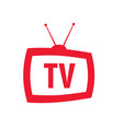 icon television with antenna in retro style vector image