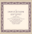 Invitation with border frame Renaissance vector image